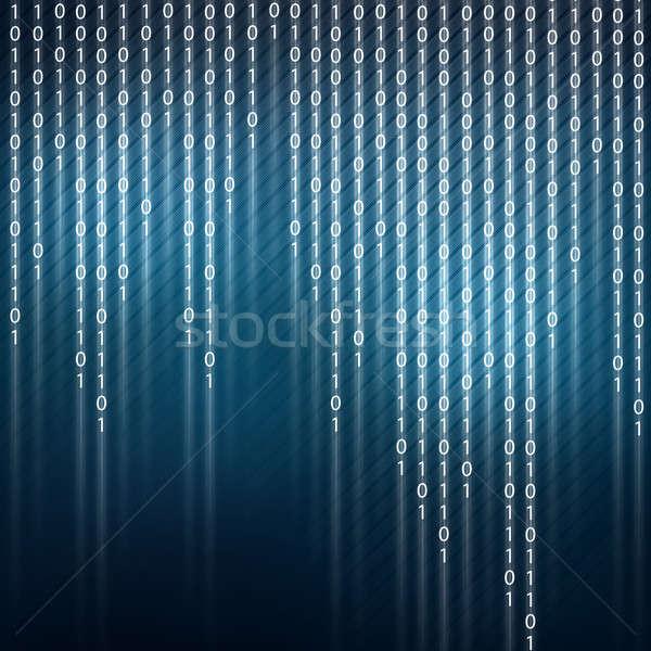 Ikili kod görüntü güvenlik bilgisayar dizayn arka plan Stok fotoğraf © adam121