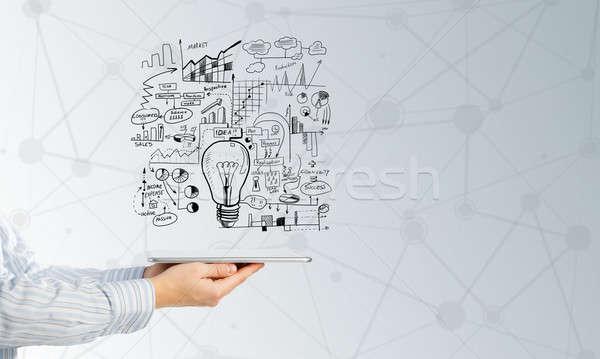 Idee sluiten zakenman presenteren business Stockfoto © adam121