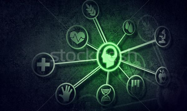 Medios de comunicación social comunicación digital social interacción conexión Foto stock © adam121