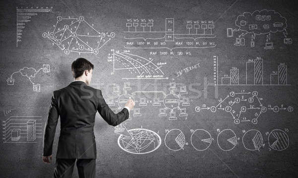 Man writing business plan Stock photo © adam121