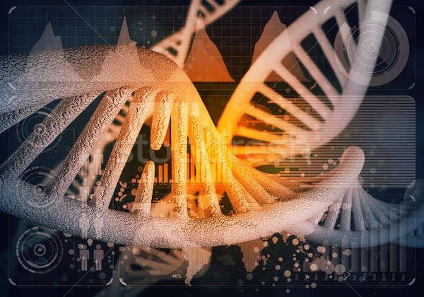 DNS molekulák háttér kép számítógép orvosi Stock fotó © adam121