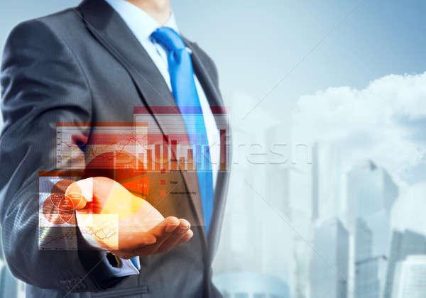 Innovatieve business zakenman palm Stockfoto © adam121