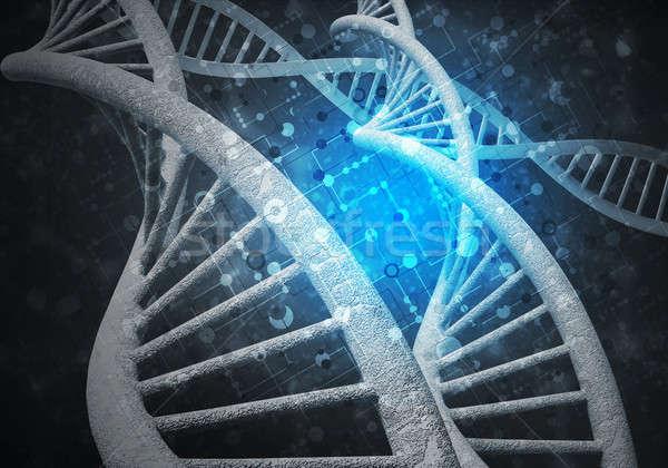 Dna moleculen achtergrond afbeelding computer geneeskunde Stockfoto © adam121