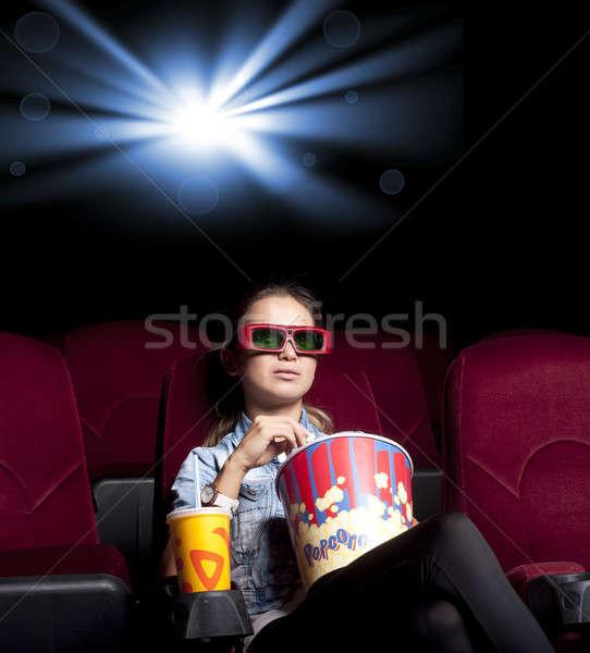 женщину кино сидят только смотрят Сток-фото © adam121