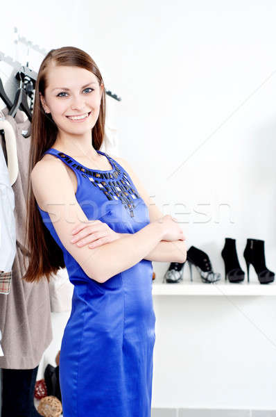 young woman in mall buying clothes Stock photo © adam121