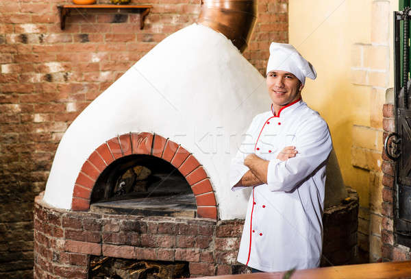 Portret kok keuken oven traditioneel keuken Stockfoto © adam121