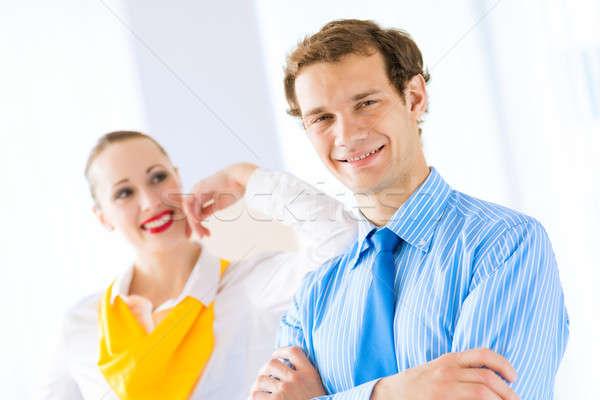 успешный бизнесмен Поздравляю коллеги руководство Сток-фото © adam121