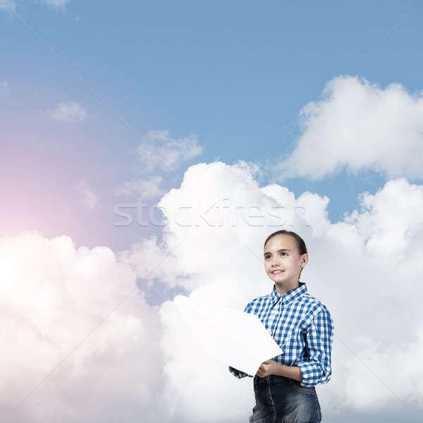 Happy careless childhood Stock photo © adam121