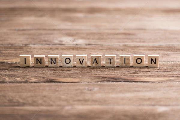 Innovation scrabble word stock photo © Aleksandr Khakimullin