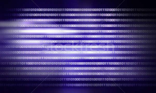 Código binario imagen seguridad ordenador diseno fondo Foto stock © adam121