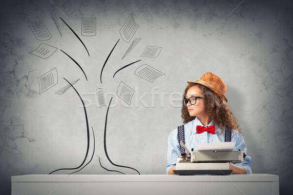 Stock photo: woman writer