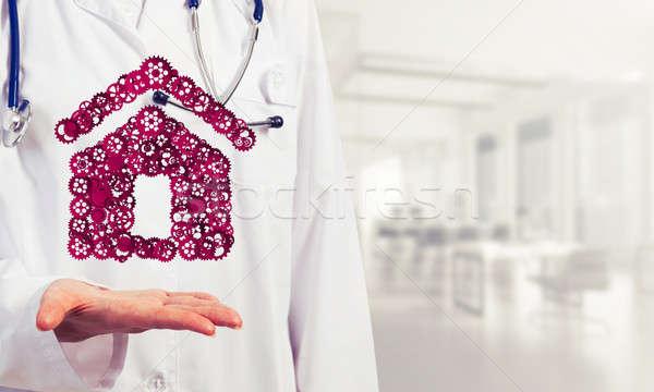 Simge sayfası el kadın doktor Stok fotoğraf © adam121