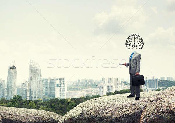 человека ума бизнесмен мозг Сток-фото © adam121