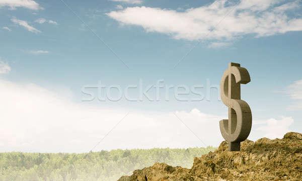 Foto stock: Dinheiro · riqueza · pedra · dólar · símbolo