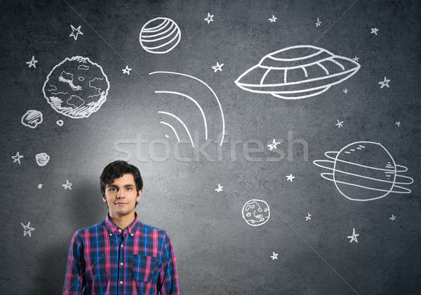 Dreaming to explore space Stock photo © adam121