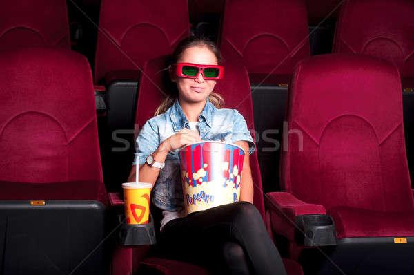 woman in cinema Stock photo © adam121