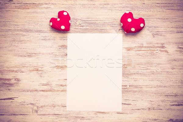 Amour Un Message Invitation Coeurs Fiche Papier