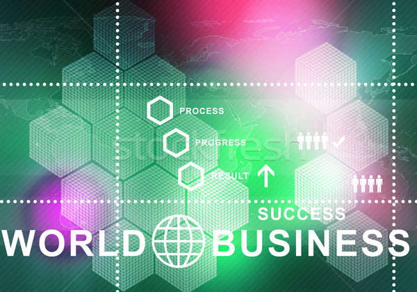 Innovatieve digitale business afbeelding iconen Stockfoto © adam121