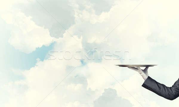 Pincér tart üres ezüst kész termék Stock fotó © adam121