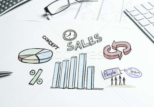 販売 成長 ビジネス 職場 キーボード ストックフォト © adam121