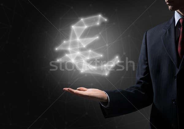 ユーロ 通貨 シンボル ビジネスマン ストックフォト © adam121
