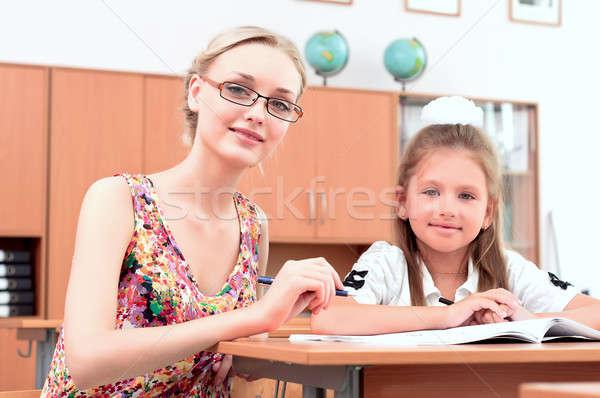Professor sessão professores comprometido estudantes próximo Foto stock © adam121