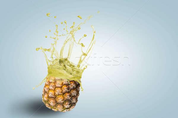 fresh pineapple juice spills Stock photo © adam121