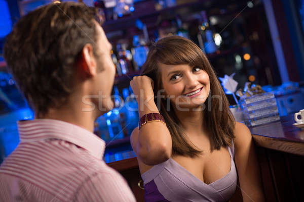 portrait of a nice woman at the bar Stock photo © adam121