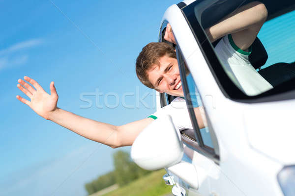 man stuck his hand out of the window Stock photo © adam121