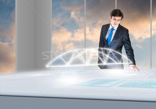 Innovador jóvenes empresario mirando Foto stock © adam121