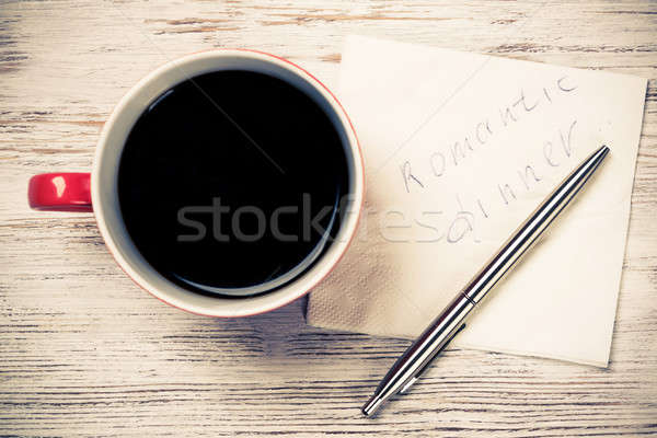 Message written on napkin Stock photo © adam121