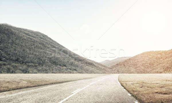 Vinden manier natuurlijke zomer landschap platteland Stockfoto © adam121