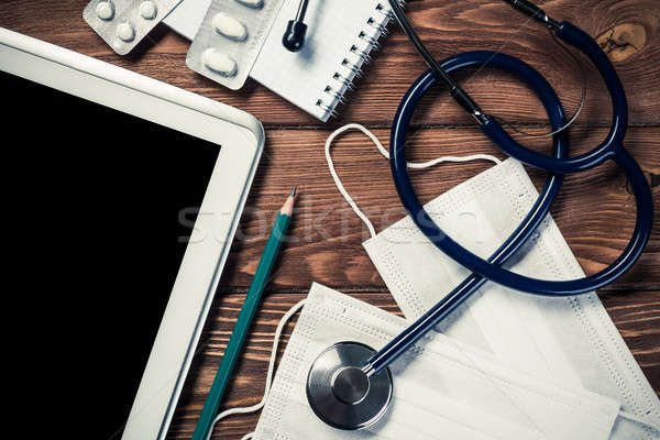 Stethoscope and tablet pc Stock photo © adam121