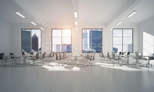 Ofis iç mimari renk rays ışık pencere Stok fotoğraf © adam121