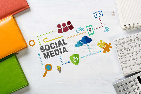 социальной связи сетей бизнеса месте Сток-фото © adam121
