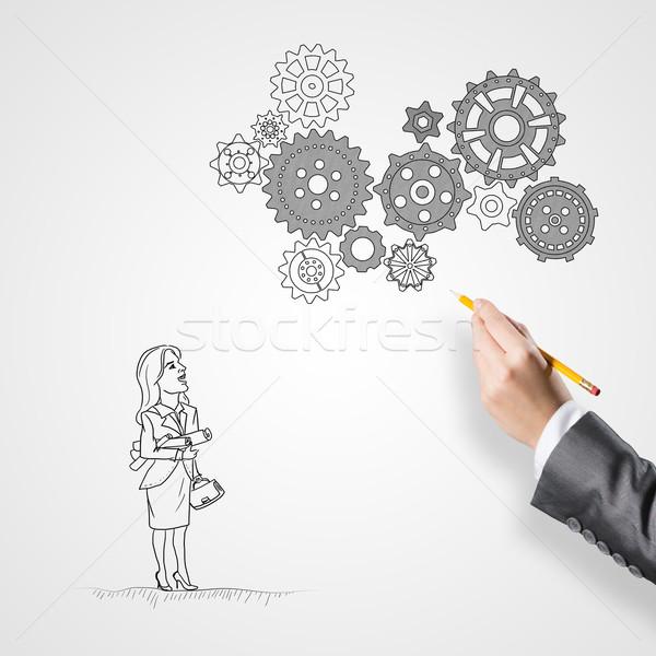 Działalności współpraca organizacja kobiet strony Zdjęcia stock © adam121