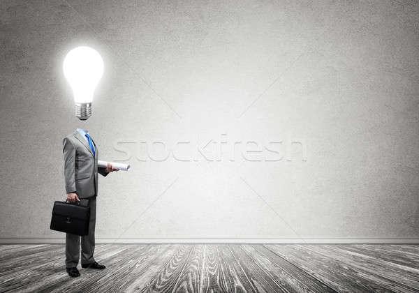 Lampadina imprenditore uomo lavoro Foto d'archivio © adam121