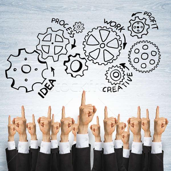 Business teamwerk groep handen tonen Stockfoto © adam121
