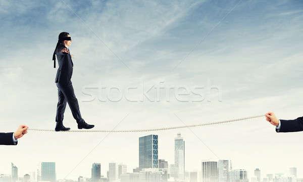Business risico ondersteuning hulp man zakenman Stockfoto © adam121