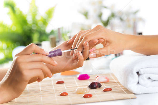 Manicure procedure Stock photo © adam121