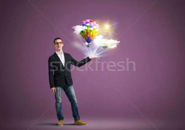 Young man with tablet Stock photo © adam121
