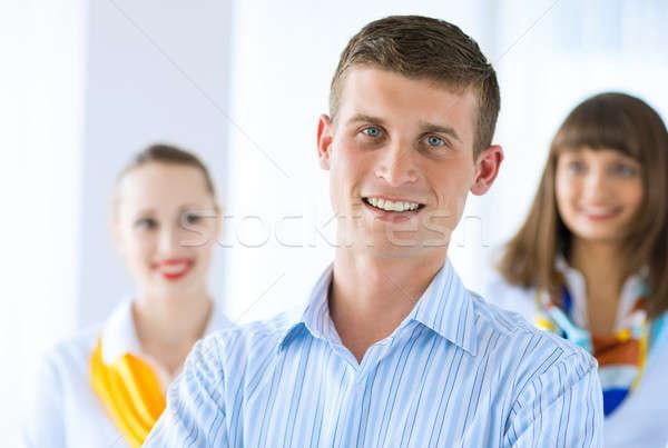 Ritratto di successo imprenditore colleghi ufficio sfondo Foto d'archivio © adam121