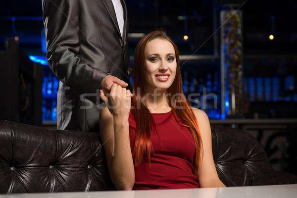 Portrait of a successful woman in a nightclub Stock photo © adam121