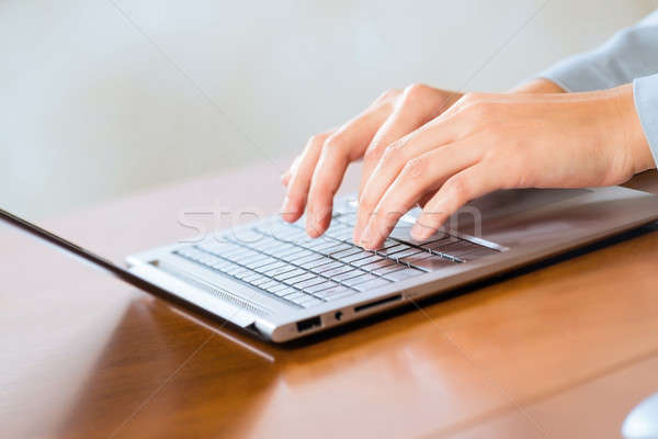 business woman working with laptop Stock photo © adam121