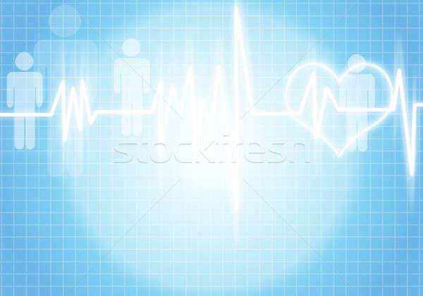 Szív törődés digitális kép kardiogram szín Stock fotó © adam121