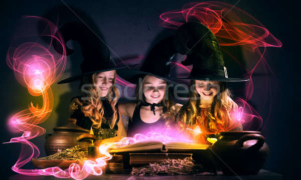 Three little witches Stock photo © adam121