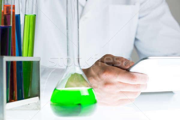 Chemist man at work Stock photo © adam121