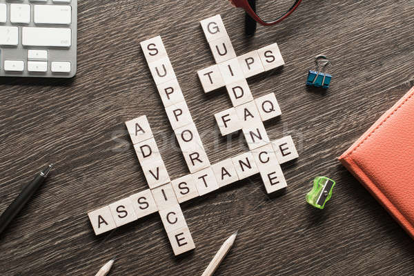 Visszajelzés támogatás támogatás útmutatás szavak kockák Stock fotó © adam121