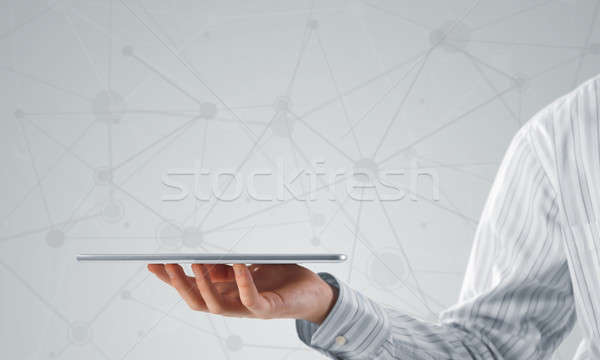 Connessione interazione vicino view imprenditore Foto d'archivio © adam121