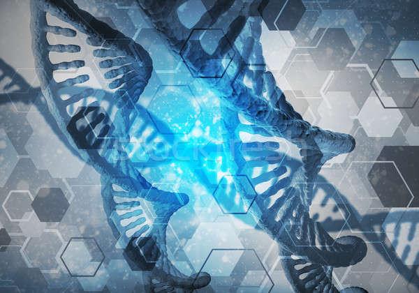 Dna moleculen achtergrond afbeelding onderzoek 3D Stockfoto © adam121